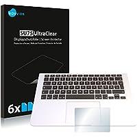 "Savvies Protector de Pantalla para Apple MacBook Pro 13.3"" Touchpad (2015) Película Protectora [6 Unidades] - Screen Protector"