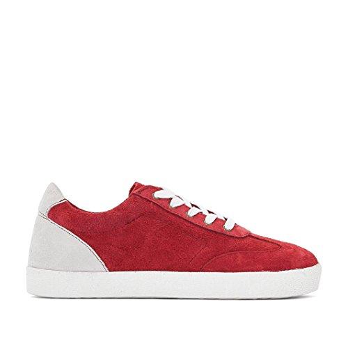 R Essentiel Mdchen Und Jungen Sneakers Aus Leder bordeaux/weiss