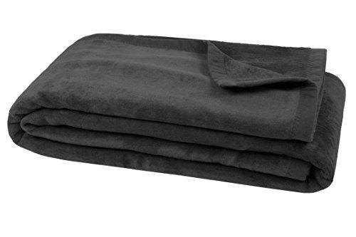 Zollner® plaid/coperta per il divano grafite 150x200cm, disponibile in altri colori e in altre misure, dallo specialista in biancheria per hotel, serie colorado