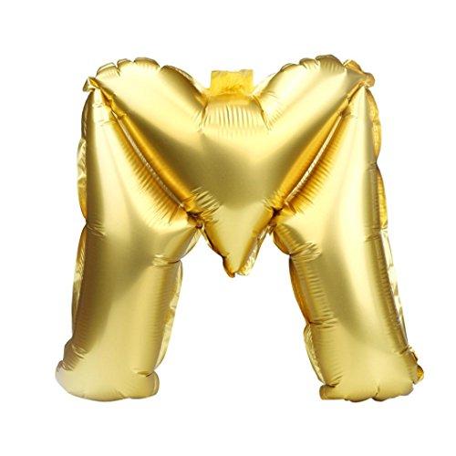 bis Z Brief Folie Ballons Party Ballon Gold Farbe (M) (Alphabet Geformte Ballone)
