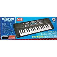 PSB - Big Fun 37 Key Piano Keyboard Toy with Dc Power Option, Recording and Mic for Kids