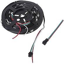 Qiuxiaoaa Cubierta de Interruptor de luz Decorativa, WS2812B Módulo LED pre-Soldado Alambre de