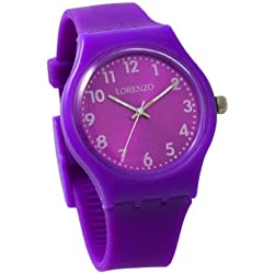 Lorenzo Women's | Lavender Silicone Band Watch | LZ01