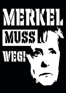 50 Stück Aufkleber Sticker Merkel Muss Weg Din A7 Amazonde Auto