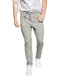 ESPRIT Herren Relaxed Hose 5 Pocket aus Leinen