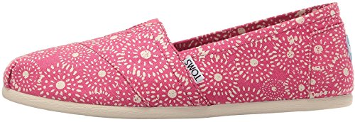 Toms Classic Fuchsia Dots Womens Canvas Espadrilles Shoes-8
