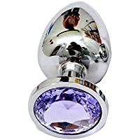 Juguetes Anales para Berg Crystal Silver Color Metal Backyard Conector De Acero Inoxidable Plug Hitch