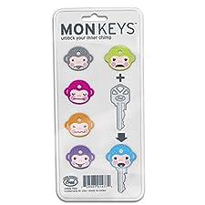 Six Colour Coded Monkey Keycaps –