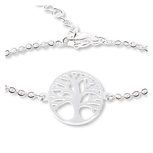 Armband - versilbert - Baum des Lebens