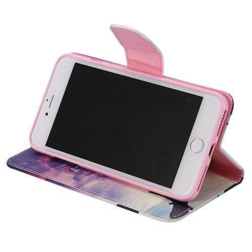 C-Super Mall-UK Apple iPhone 7 Plus hülle, Qualität PU-Leder Brieftasche Stehen Flip hülle für Apple iPhone 7 Plus Thanks love