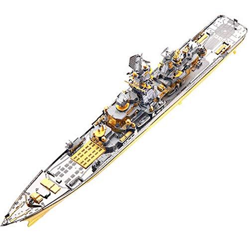 MQKZ 3D Puzzle montagespiel / russische battlecruiser pjotr / Metall Modell DIY manuelle Schlachtschiff Dekoration / gelb + Werkzeug a + b / one Size -