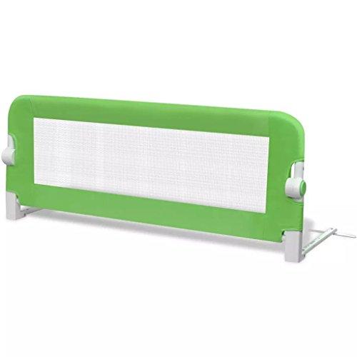 SOULONG Safety 1st Bettschutzgitter, Bettgitter Fallschutz beim Schlafen Klappbar passend für Kinder-Eltern-Bette (L x H) 102 x 42 cm Grün