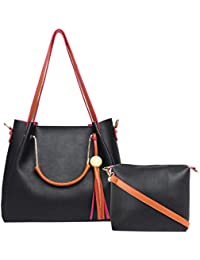 LYCHEE BAGS WOMENS LYLA PU SHOULDER BAG WITH INNER SLING BAG