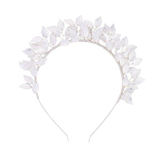 HimanJie Feuille Couronne en alliage bandeau disque cheveux décoration couvre-chefs pour Banquet mariage