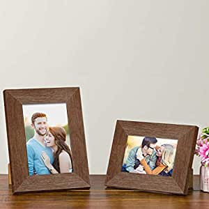 "Art Street Customize Table Photo Frame/Picture Frame for Desk (Photo Size 5""X7"" & 4""X6"") Photo Gift/Love Gift - (Set of 2- Brown)"