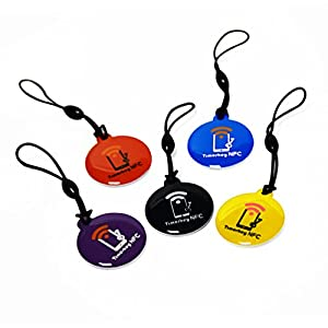TimesKey 10 x NFC Keyfob/NXP Ntag 215 Tagging/NFC Tag AMIIBO Stesso chip/Crystal Resin Kit/Per tutti i telefoni cellulari NFC e lettori di schede / 5 colori