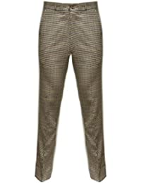 Relco - Pantalon en tweed à carreaux style Sta-Press - rétro - tailles US 28-40