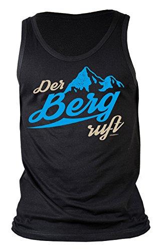 Wandern/Bergsteiger/Kletterer Sprüche Trägershirt Herren : Der Berg Ruft - Männer Träger T-Shirt Berge Gr: M -