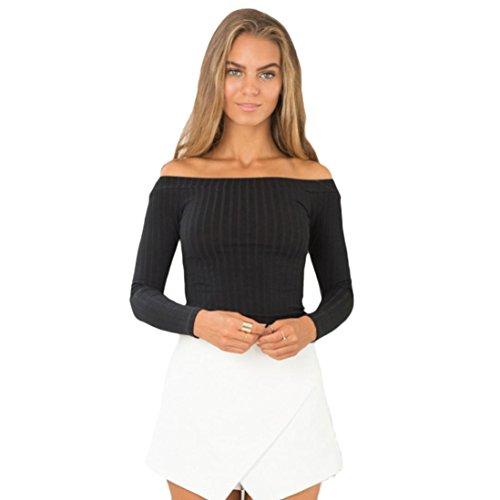 Zarupeng senza spalline stretto maglione Donne della parte stretta Camicia