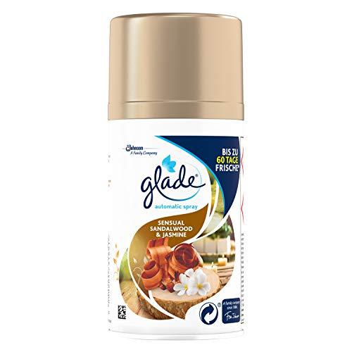 Glade (Brise) Automatic Spray Nachfüller für Lufterfrischer Gerät, Sensual Sandalwood & Jasmine, 2er Pack (2 x 269 ml) -