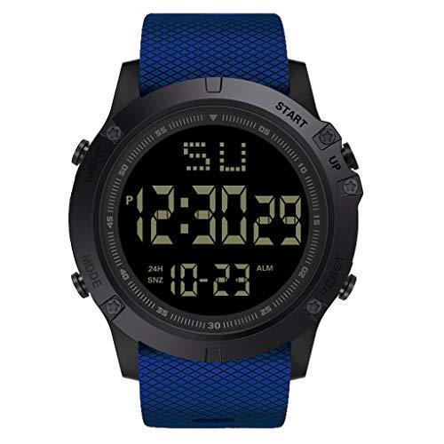 KiyomiQvQ Sport Uhren Mode Herren Armbanduhren Klassisch LED Chronograph Freizeit Digital Uhr TPU Netz Band Warch Im Freien Casual Wristwatch