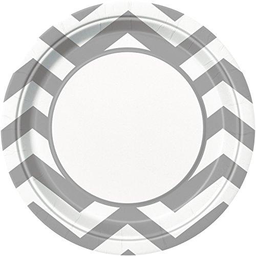 placas-partido-enico-23-cm-party-chevron-paquete-de-8-plata