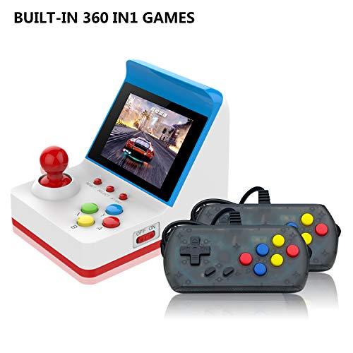 Anbernic Console di Giochi Portatile , Console di Giochi Retro Game Console 3.0 Pollice 360 Classic Giochi ,TV Output Videogioco Portatile with 2PCS Joystick - Blu