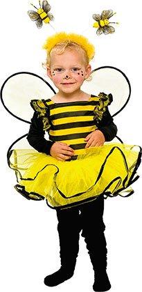 Mottoland Kinder Kostüm Baby Biene Kleinkind Mädchen Kleid Kita Fasching: Größe: - Kleinkind Großes Kostüm
