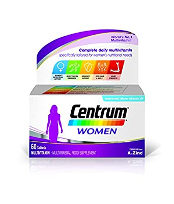 Centrum Multivitamin Tablets for Women, Pack of 60 by Centrum