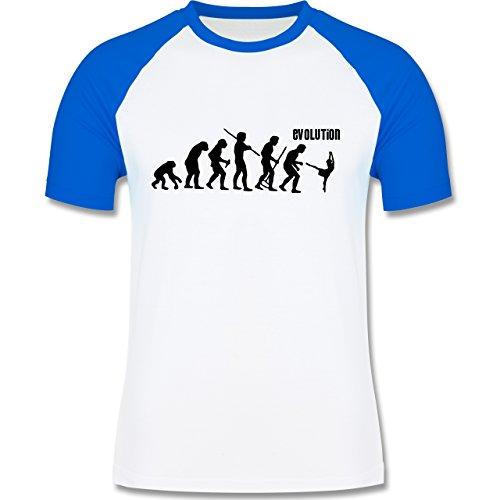 Evolution - Modern Dance Evolution - zweifarbiges Baseballshirt für Männer Weiß/Royalblau