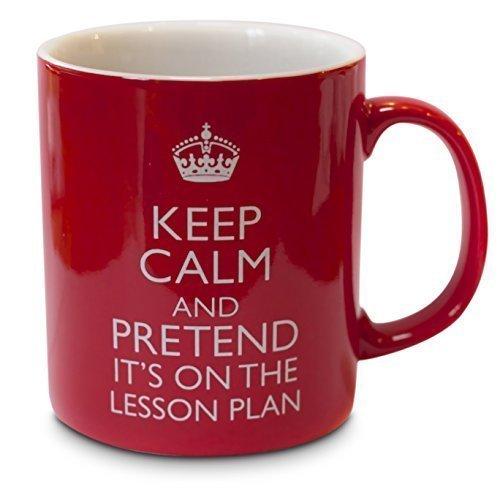 """Becher/Tasse Fun für Lehrer, """"Keep Calm and Pretend it's"""" on the Plan lesson"""