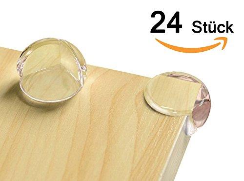 Eckenschutz und Kantenschutz für Kindersicherung, für Tisch und Möbel Ecken, Stoßschutz für Baby und Kinder, für Baby Schutz, Fortgeschritten (24 Advanced)