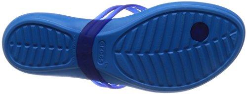 crocs Damen Isabella Sandalen Flipflops, Schwarz Cerulean Blue/Ocean
