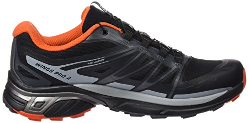Salomon Herren Wings Pro 2 Gtx Kletterschuhe black/dark cloud/tomato red
