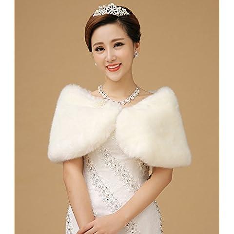 Versione Coreana invernale della nuova sposa abito da sposa accessori spessa della sfera della perla di capelli Wedding scialle