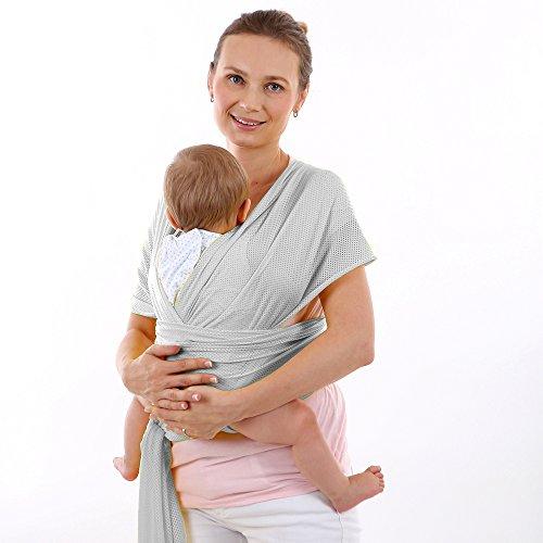 CETTICII Echarpe de portage bébé, porte bébé en coton très léger pour un  meilleur confort 7edfe856138