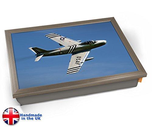 F 86 Sabre North American Aviation Aviation Plane Cushion Lap Tray Kissen Tablett Knietablett Kissentablett - Chrome Effekt Rahmen (Sabre Red-home)