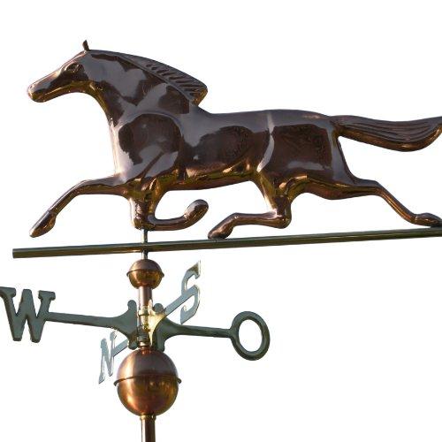 Wetterfahne großes trabendes Pferd aus Kupfer