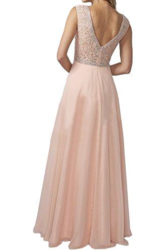 Ivydressing Damen Rund Neu Abendkleider Lang Ballkleider Arm Steine  Wassermelone
