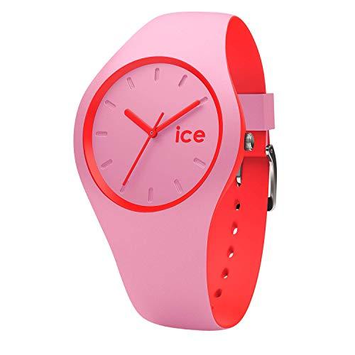 Ice-Watch - Ice Duo Pink Red - Rosa Damenuhr mit Silikonarmband - 001491 (Small)