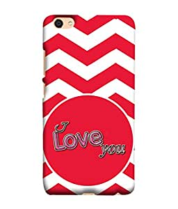 Oppo F3 Plus Back Cover, Oppo F3 Plus Back Case I Love You Design From Printvisa
