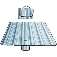 Wiiguda@XXL-200*200 cm Manta de Picnic Impermeable Soporte Plegalbe Portatil al Aire Libre Playa Alfombra