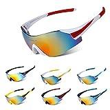 #8: Generic Black Blue : Cycling Sunglasses SP0889 UV400 Outdoor Eyewear Frameless Glasses Sport MTB Bicycle Motorcy Anti-sand windshield Glasses 8Colors