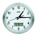 Reloj de Pared con Fechador y Termometro CHRONO ZP8, Diametro 24cm, Marco Metalico