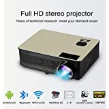 2018Brand New C6 Projector Newpal 4000Lumens Projector Full HD 1280*800p Home Theater (HIgh End Projector)