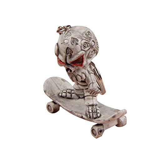 Royalr Halloween-Karikatur-Skeleton Skateboard Schlüsselanhänger Ring-Partei-Bevorzugungs-Geschenk-Telefon Ornament Schlüsselanhänger