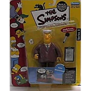 The Simpsons World of Springfield Kent Brockman Figure by Playmates/The Simpsons 3