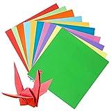 SIMUER 200 Fogli di Carta Origami, Resistente e Pieghevole per progetti artistici e Artigianali, 15 x 15 cm, Spazio per Bambini e Adulti (100 Fogli 20 x 20 cm, 100 Fogli 15 x 15 cm)