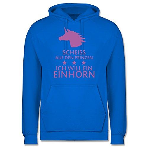 Nerds & Geeks - Einhorn - Scheiss auf den Prinzen ich will ein Einhorn - Männer Premium Kapuzenpullover / Hoodie Himmelblau