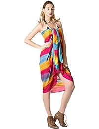 La Leela Swimsuit Hand Tie Dye Beach Swimwear Bikini Wrap Skirt Sarong Cover up
